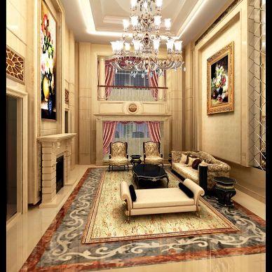 家装欧式卧室奢华吊顶吊灯装修设计效果图
