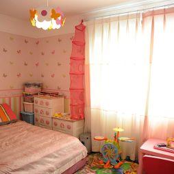 整体家装现代风格儿童房粉色系列窗帘装修设计效果图