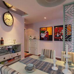 新古典风餐厅挂画挂钟装修效果图