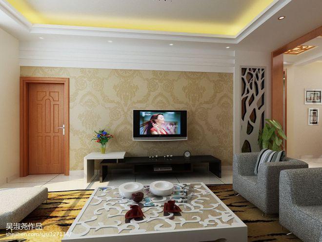 中式客厅电视墙 装修效果图