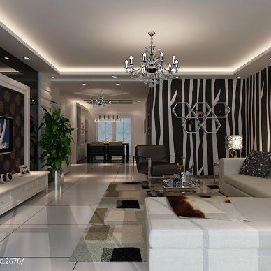 现代风 现代客厅电视背景墙装修效果图