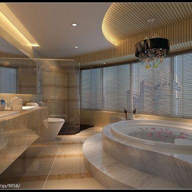 阳基天御山现代卫浴瓷砖淋浴房装修设计效果图