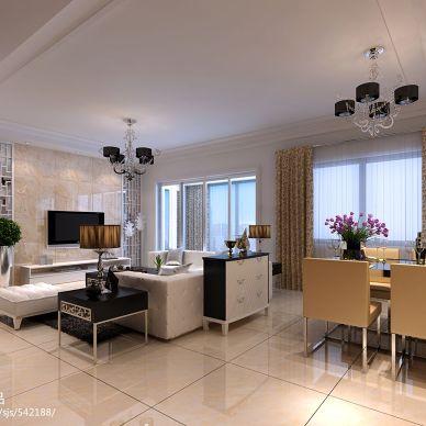 御山和苑现代客厅装修设计效果图
