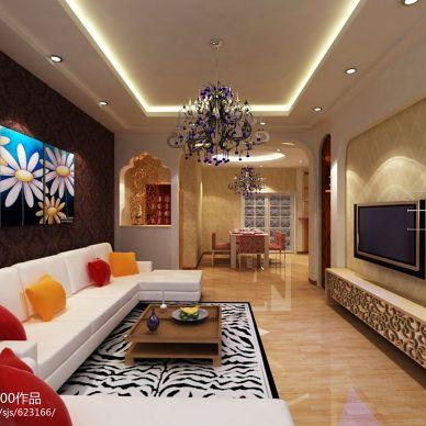3居室现代小客厅设计效果图