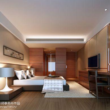 融汇江山现代卧室地板背景墙装修效果图