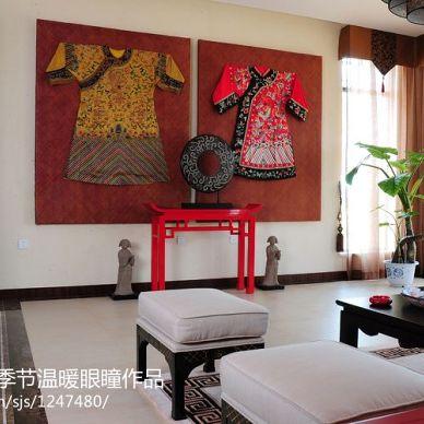 别墅客厅中式风格装修效果图片