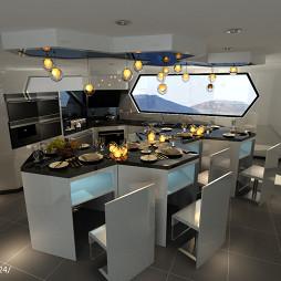 厨房餐厅整体装修效果图
