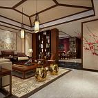 中式风格客厅装修2017图片