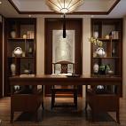 中式复古卧室书房设计图片