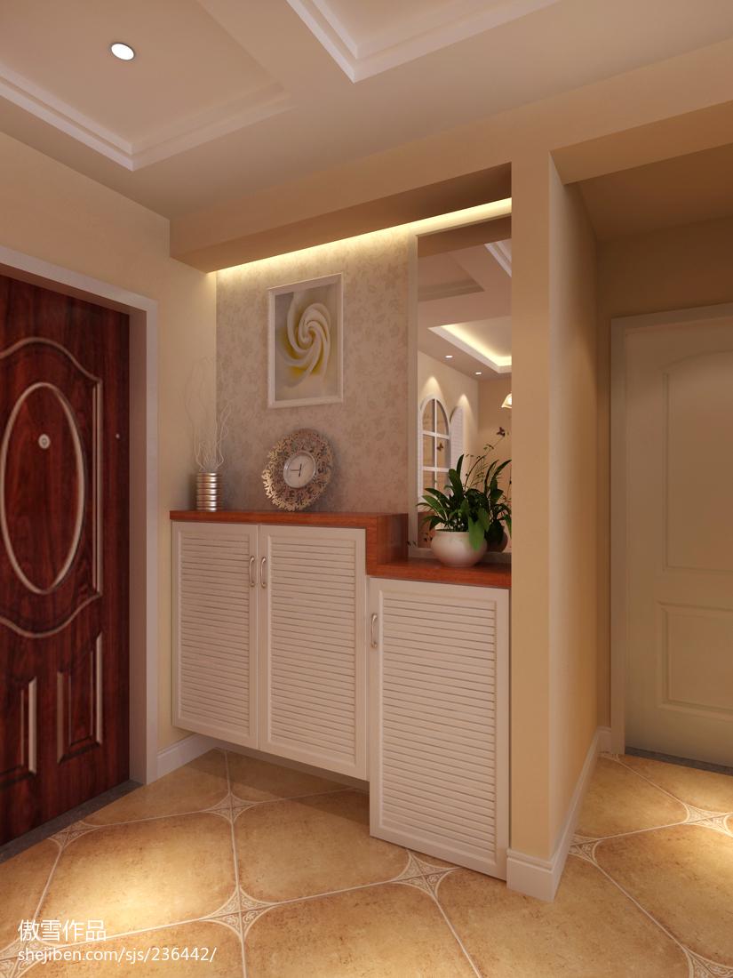 家装欧式风格效果图_田园风格玄关柜装修效果图 – 设计本装修效果图