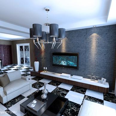 新加坡城现代客厅电视墙装修效果图