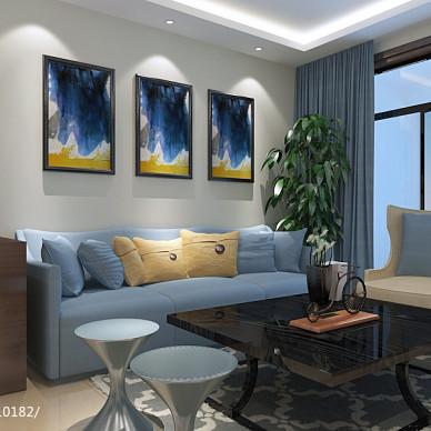 混搭客厅窗帘电视墙设计装修效果图