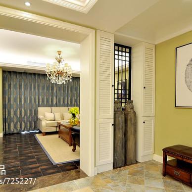 现代风格客厅和卧室隔断装修效果图