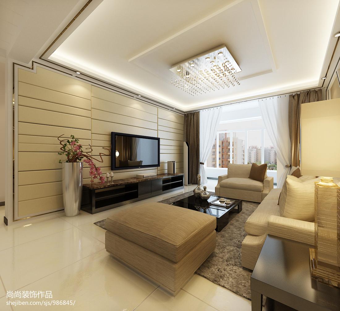家装现代风格效果图_裕祥园 现代风格客厅装修效果图 – 设计本装修效果图