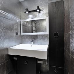 混搭卫生间台盆柜装修设计效果图