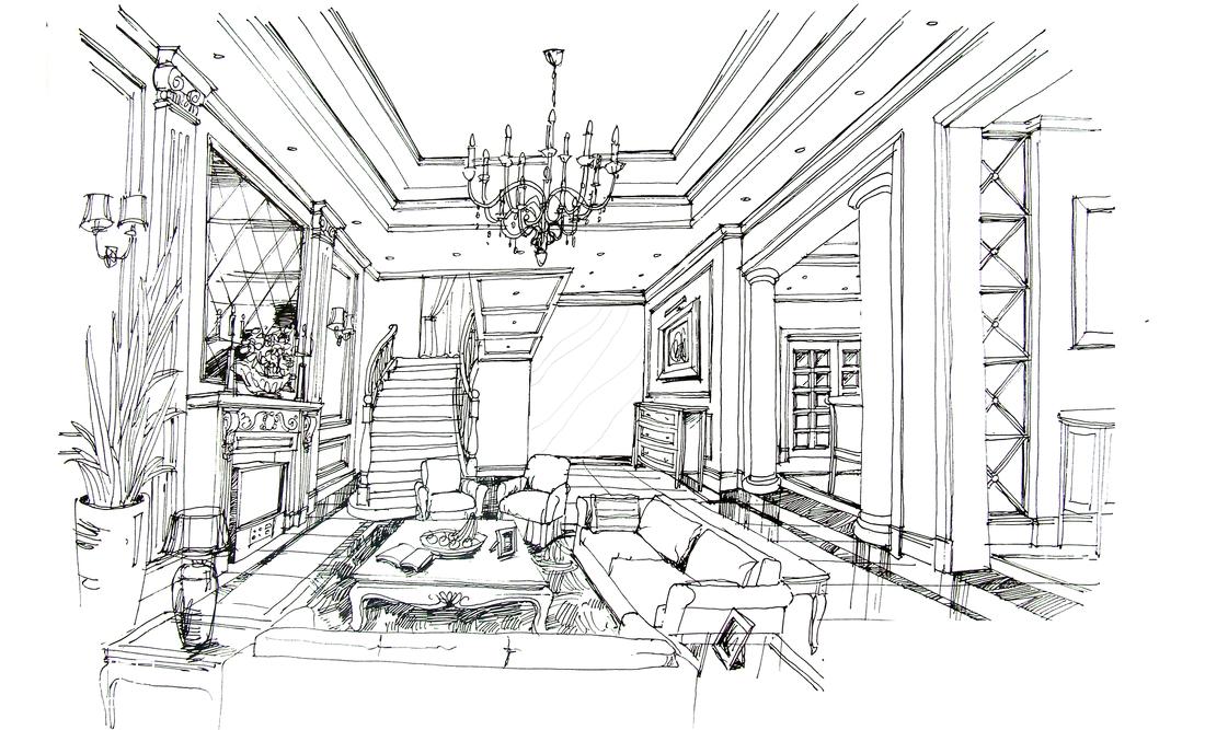 家具手绘_家具手绘效果图片欣赏 – 设计本装修效果图