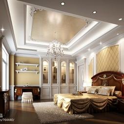 光耀城_欧式卧室吊灯吊顶装修设计效果图