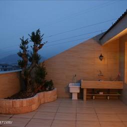 新古典风格复式露天阳台设计效果图