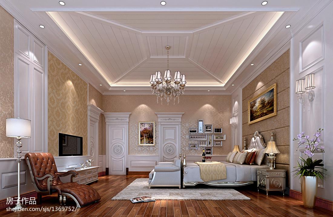 客厅墙纸设计效果图_欧式别墅卧室壁纸装修效果图 – 设计本装修效果图