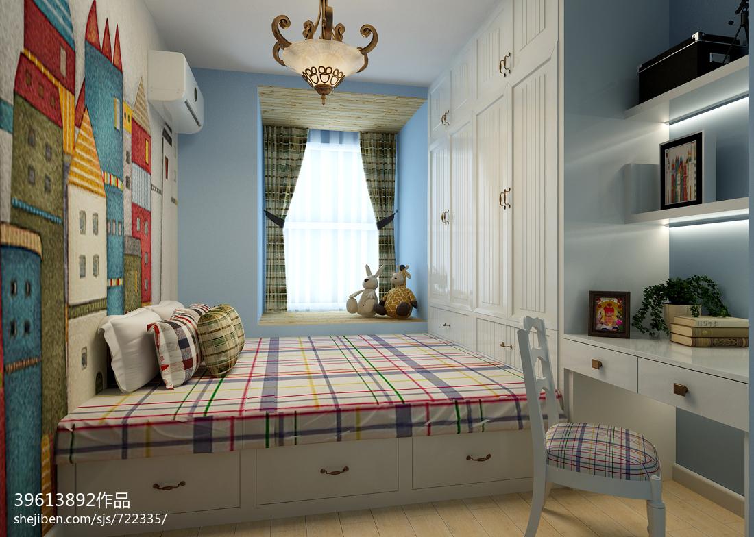 卧室装修榻榻米_现代榻榻米卧室手绘背景墙装修效果图 – 设计本装修效果图