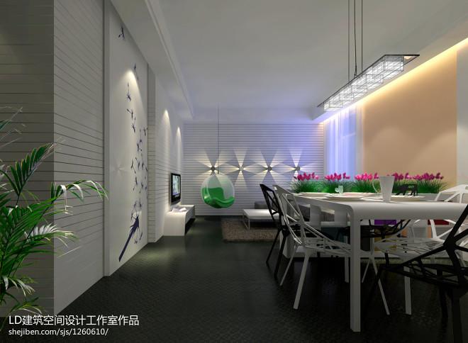 70平米两室一厅装修效果图库