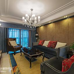 新古典风格家装客厅背景墙装修图