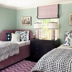 紫色儿童房装饰设计图片欣赏