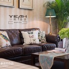 休闲美式风格客厅沙发装修效果图