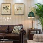 休闲美式风格客厅背景墙设计