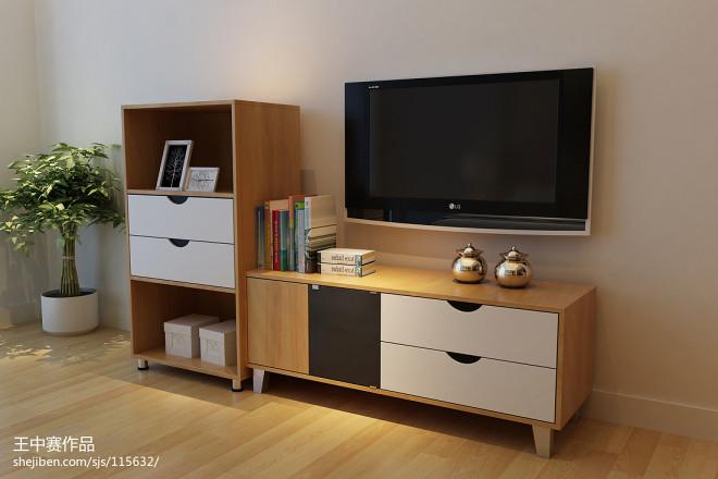 淘宝家具3D效果图-床 床头柜 衣柜