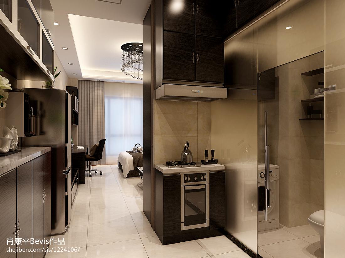 小厨房设计图片_40平米小户型公寓装修效果图 – 设计本装修效果图