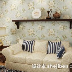 现代客厅液体壁纸效果图
