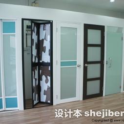 钛镁合金卫生间折叠门图片