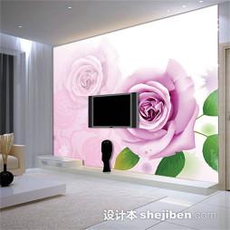 紫色壁纸电视墙效果图大全2017图片