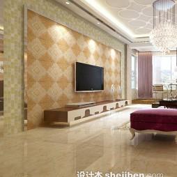 菱形瓷砖电视墙图片