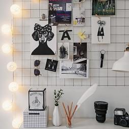 书桌照片墙设计图
