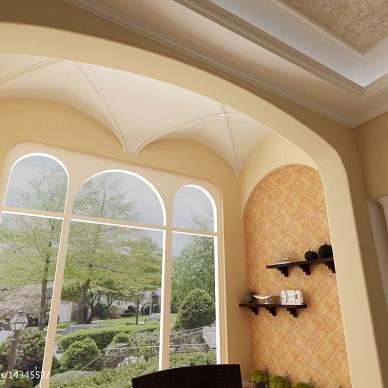 美式室内花架装修效果图