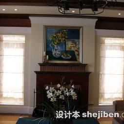 东郊别墅_壁炉壁画豪华别墅设计图