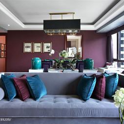 130平米新古典客厅装修效果图