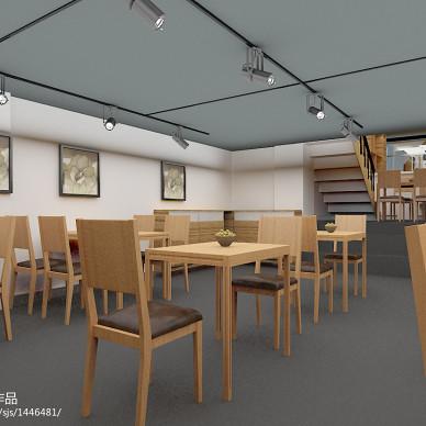现代风格快餐店桌椅设计效果图