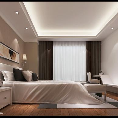 混搭风卧室飘窗设计效果图