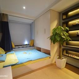 现代儿童房榻榻米床装修设计效果图
