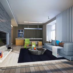 简约风格现代客厅电视墙 装修效果图大全2017图片