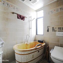 美式卫生间浴缸装修效果图大全