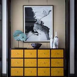 中式风格家居玄关鞋柜装修图片