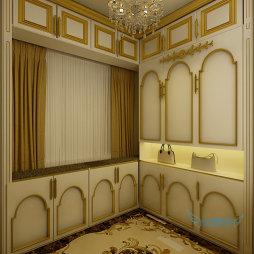欧式别墅衣帽间橱柜家居装修设计
