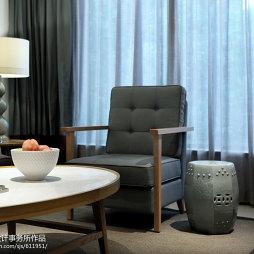 现代客厅窗帘装修效果图大全
