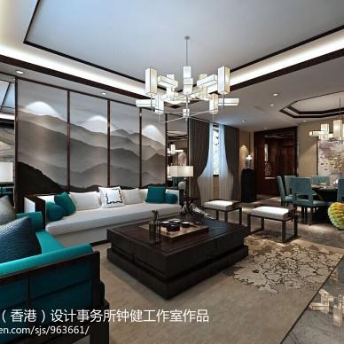 中式客厅隔断沙发背景墙装修效果图大全