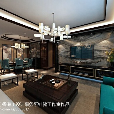 中式客厅吊顶灯装修效果图大全