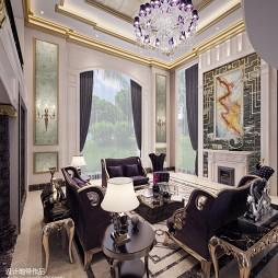 欧式家装水晶灯吊顶造型设计图欣赏